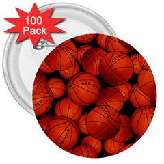 Basketball Sport Ball Champion All Star 3  Buttons (100 Pack)  by Jojostore