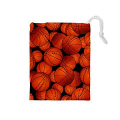Basketball Sport Ball Champion All Star Drawstring Pouches (medium)  by Jojostore