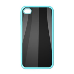 Black Minimalistic Gray Stripes Apple Iphone 4 Case (color)