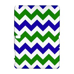 Blue And Green Chevron Pattern Galaxy Note 1 by Jojostore