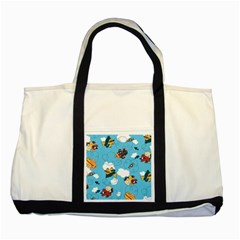 Bear Aircraft Two Tone Tote Bag by Jojostore