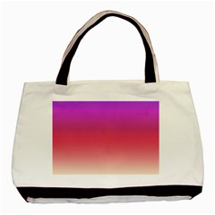Blue Pink Purple Red Basic Tote Bag (two Sides) by Jojostore