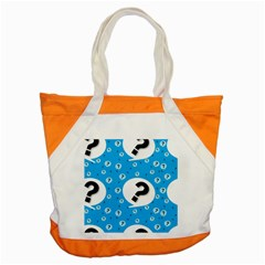 Blue Question Mark Accent Tote Bag by Jojostore