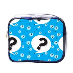 Blue Question Mark Mini Toiletries Bags