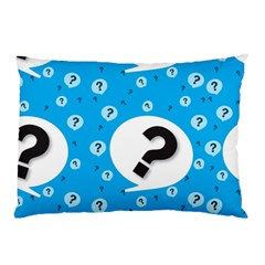 Blue Question Mark Pillow Case (two Sides) by Jojostore