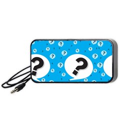 Blue Question Mark Portable Speaker (black)  by Jojostore
