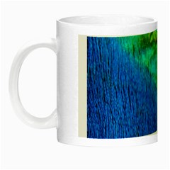 Blue Peacock Feathers Night Luminous Mugs by Jojostore