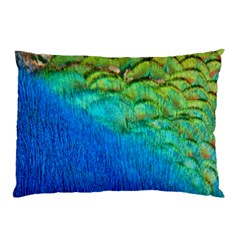 Blue Peacock Feathers Pillow Case (two Sides)