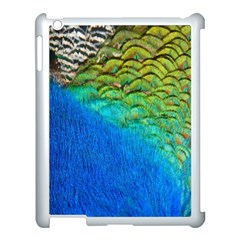 Blue Peacock Feathers Apple Ipad 3/4 Case (white)