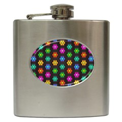 Pattern Background Colorful Design Hip Flask (6 Oz) by Amaryn4rt