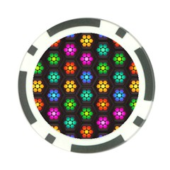 Pattern Background Colorful Design Poker Chip Card Guards by Amaryn4rt