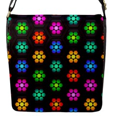 Pattern Background Colorful Design Flap Messenger Bag (s) by Amaryn4rt