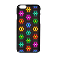 Pattern Background Colorful Design Apple Iphone 6/6s Black Enamel Case