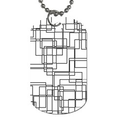 Structure Pattern Network Dog Tag (two Sides) by Amaryn4rt