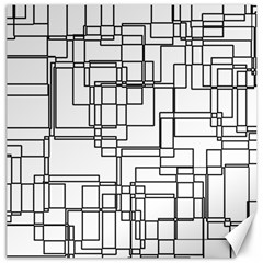 Structure Pattern Network Canvas 12  X 12   by Amaryn4rt