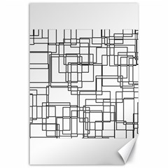 Structure Pattern Network Canvas 24  X 36