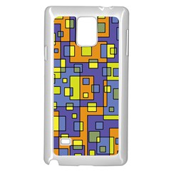 Square Background Background Texture Samsung Galaxy Note 4 Case (white)