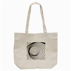 Spiral Eddy Route Symbol Bent Tote Bag (cream)