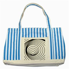 Spiral Eddy Route Symbol Bent Striped Blue Tote Bag