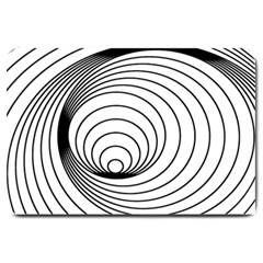 Spiral Eddy Route Symbol Bent Large Doormat