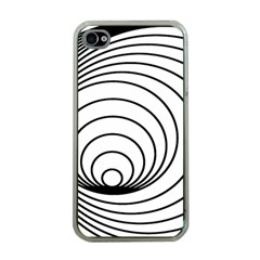 Spiral Eddy Route Symbol Bent Apple Iphone 4 Case (clear)