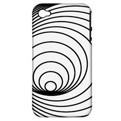 Spiral Eddy Route Symbol Bent Apple Iphone 4/4s Hardshell Case (pc+silicone)