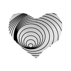 Spiral Eddy Route Symbol Bent Standard 16  Premium Heart Shape Cushions by Amaryn4rt