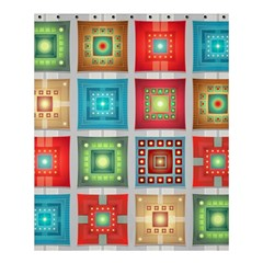 Tiles Pattern Background Colorful Shower Curtain 60  X 72  (medium)  by Amaryn4rt