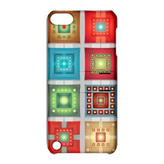 Tiles Pattern Background Colorful Apple Ipod Touch 5 Hardshell Case With Stand by Amaryn4rt