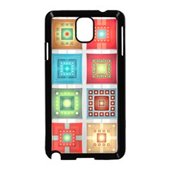 Tiles Pattern Background Colorful Samsung Galaxy Note 3 Neo Hardshell Case (black)