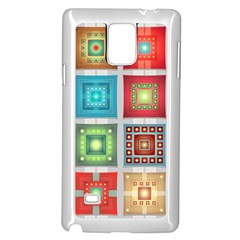 Tiles Pattern Background Colorful Samsung Galaxy Note 4 Case (white)