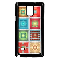 Tiles Pattern Background Colorful Samsung Galaxy Note 4 Case (black)