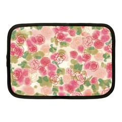 Aquarelle Pink Flower  Netbook Case (medium)
