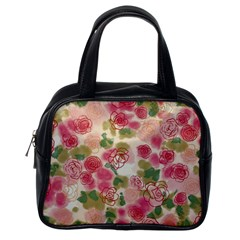 Aquarelle Pink Flower  Classic Handbags (one Side) by Brittlevirginclothing
