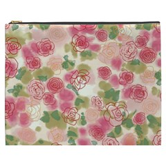 Aquarelle Pink Flower  Cosmetic Bag (xxxl)  by Brittlevirginclothing