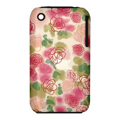 Aquarelle  Pink Flower  Iphone 3s/3gs by Brittlevirginclothing