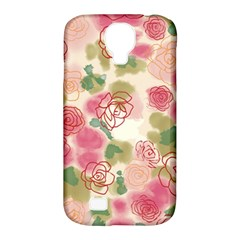 Aquarelle  Pink Flower  Samsung Galaxy S4 Classic Hardshell Case (pc+silicone) by Brittlevirginclothing