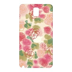 Aquarelle  Pink Flower  Samsung Galaxy Note 3 N9005 Hardshell Back Case by Brittlevirginclothing