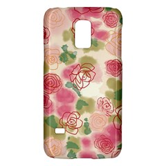 Aquarelle  Pink Flower  Galaxy S5 Mini by Brittlevirginclothing