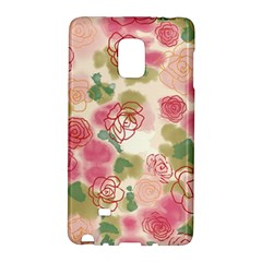 Aquarelle  Pink Flower  Galaxy Note Edge by Brittlevirginclothing