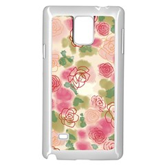 Aquarelle  Pink Flower  Samsung Galaxy Note 4 Case (white) by Brittlevirginclothing