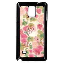 Aquarelle  Pink Flower  Samsung Galaxy Note 4 Case (black) by Brittlevirginclothing