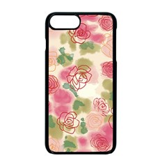 Aquarelle  Pink Flower  Apple Iphone 7 Plus Seamless Case (black) by Brittlevirginclothing