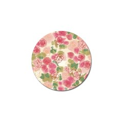 Aquarelle Pink Flower  Golf Ball Marker (10 Pack) by Brittlevirginclothing