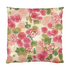 Aquarelle Pink Flower  Standard Cushion Case (one Side) by Brittlevirginclothing