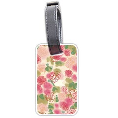 Aquarelle Pink Flower  Luggage Tags (one Side)  by Brittlevirginclothing