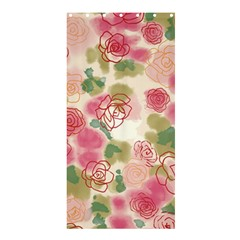 Aquarelle Pink Flower  Shower Curtain 36  X 72  (stall)  by Brittlevirginclothing