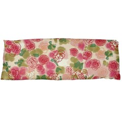 Aquarelle Pink Flower  Body Pillow Case (dakimakura) by Brittlevirginclothing