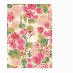 Aquarelle Pink Flower  Large Garden Flag (two Sides) by Brittlevirginclothing