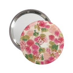 Aquarelle Pink Flower  2 25  Handbag Mirrors by Brittlevirginclothing